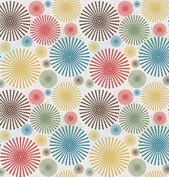 Vintage seamless background with dotted flowers vector image