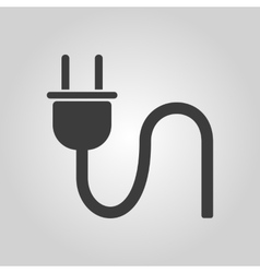 The plug icon electric symbol flat vector