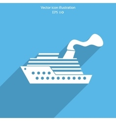 Ship icon vector