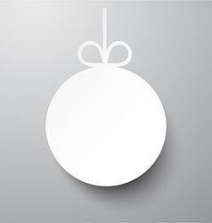 Paper christmas ball vector