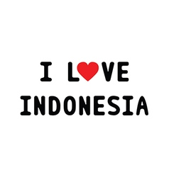 I love indonesia1 vector