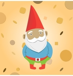 A male garden gnome vector image