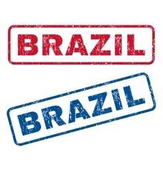 Brazil rubber stamps vector