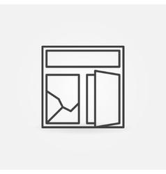 Broken window minimal icon vector