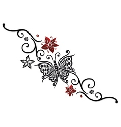 Butterfly tribal vector