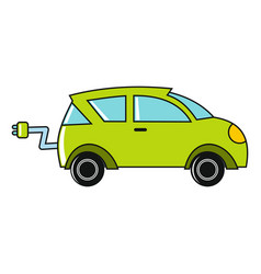 Cartoon car icon on white background vector