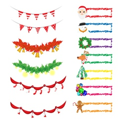 christmas decoration 1 vector image vector image