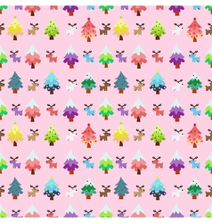 Christmas theme pinetree and reindeer sweety vector