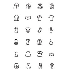 Clothes line icons 2 vector