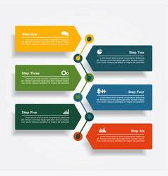 design template with elements and icons vector image vector image