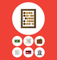 Flat icon incoming set of payment counter vector