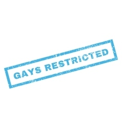 Gays restricted rubber stamp vector