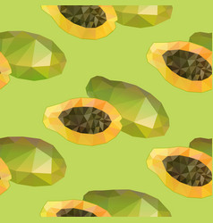 Geometric polygonal exotic food seamless pattern vector