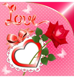 greeting card with a heart vector image