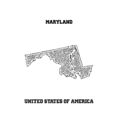 Label with map of maryland vector