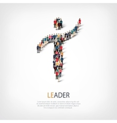 leader people symbol vector image vector image
