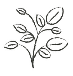 Monochrome blurred silhouette of plant with vector
