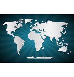 Paper World Map vector image vector image