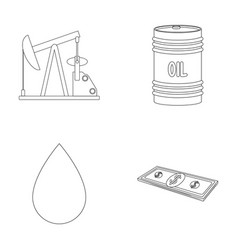 Pump barrel drop petrodollars oil set vector