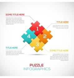 Puzzle piece 3D infographics business concept vector image
