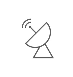 Radar satellite dish line icon vector