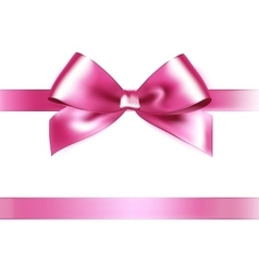 Shiny pink satin ribbon on white background vector