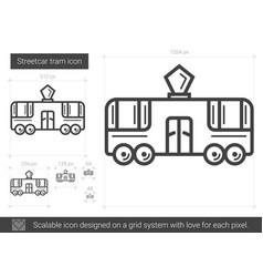 streetcar tram line icon vector image vector image