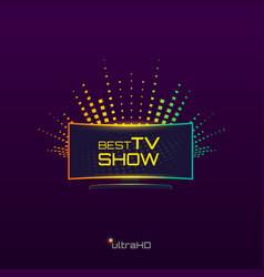 Best tv show vector