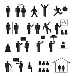 Sign of people life setbusinessman group work vector