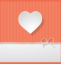 striped background with a frame vector image