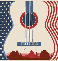 Poster of concert music festival with guitar vector