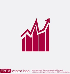Chart diagram figure business icon vector