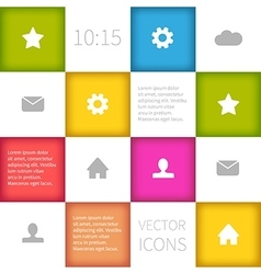 Colorful squared infographic concept design vector