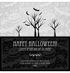 Halloween card or background vector image