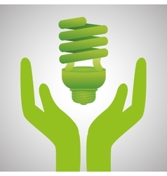 Ecology design protection icon green concept vector image