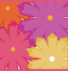 Beautiful seamless romantic pattern with flowers vector