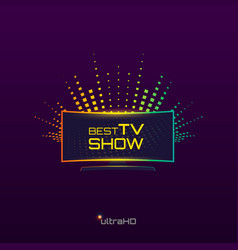 best tv show vector image vector image