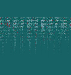 Binary code background high-tech matrix vector