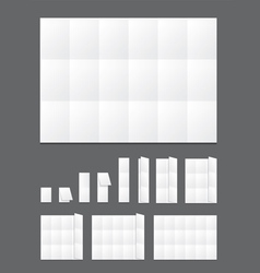 Blank folding paper flyer vector