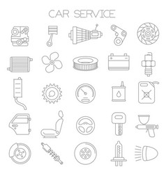 car service and pars icon set vector image