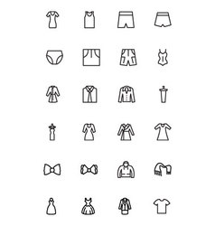 Clothes line icons 3 vector