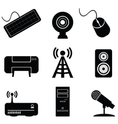 digital music icons vector image
