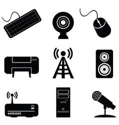 Digital music icons vector
