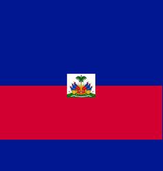 Flag haiti flat icon vector