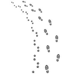 footprints turn left vector image