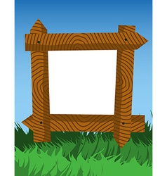 Frame made of fence logs vector image