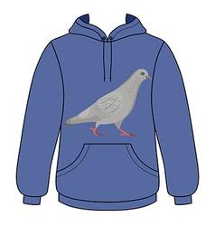 Going gray pigeon hoodie sweater vector image