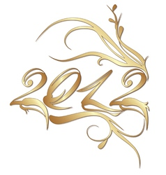 Golden new year 2012 vector