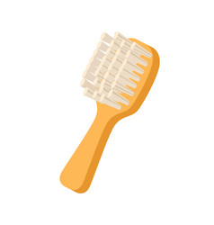 grooming brush for pets icon vector image