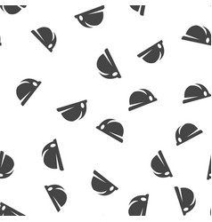hard hat seamless pattern vector image vector image